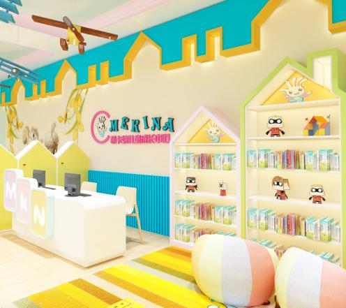 萌卡納兒童繪本教育館書架
