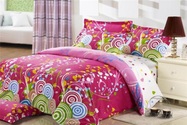 喜愛多床上用品粉紅