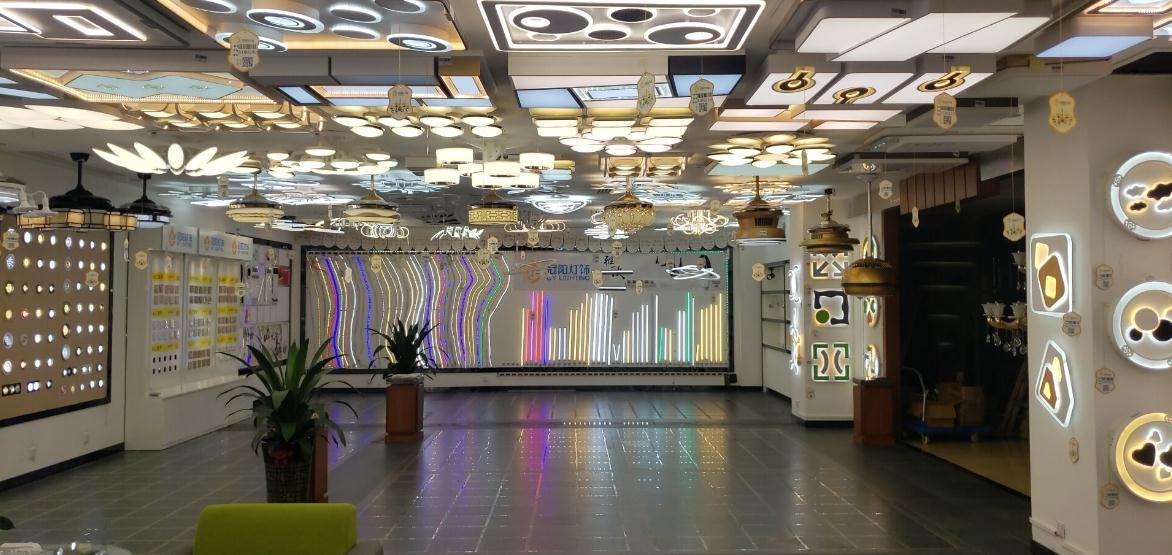 冠陽燈飾店內裝修