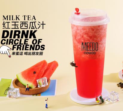 蜜逗奶茶饮品连锁加盟店红玉西瓜汁