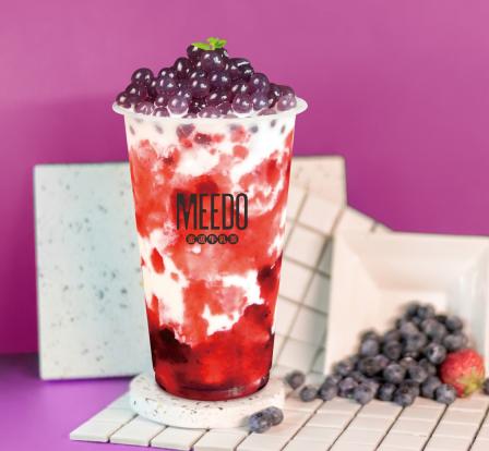蜜逗奶茶飲品連鎖加盟店草莓爆爆珠