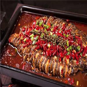 青炉里青花椒烤鱼