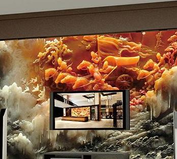 新思路5D玻璃背景墙风云