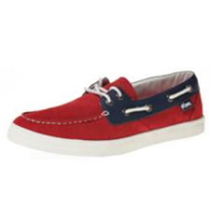 pony红色平底帆布鞋