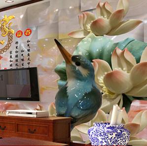 新思路5D背景墙加盟