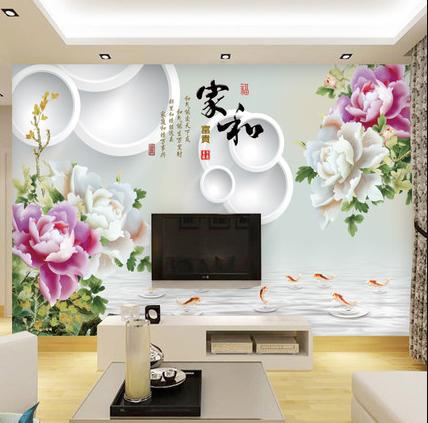 新思路5D背景墙展示