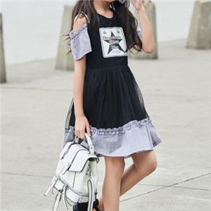 拉斐贝贝童装黑色连衣裙