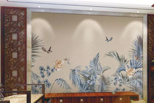 蝶绣墙布产品