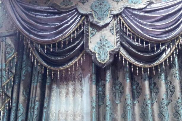 未来e家窗帘紫色