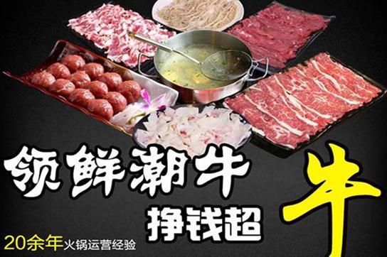 领鲜潮牛牛肉火锅海报