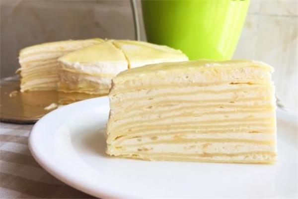 榴莲诱惑甜品千层蛋糕