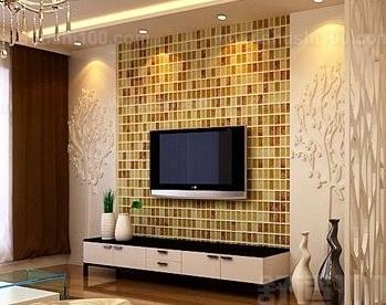 时尚的海意电视背景墙