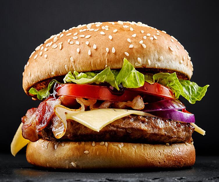 家美滋西式漢堡快餐店美味