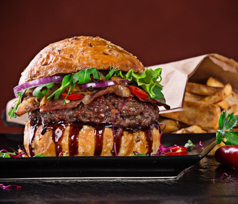 家美滋西式漢堡快餐店豐富