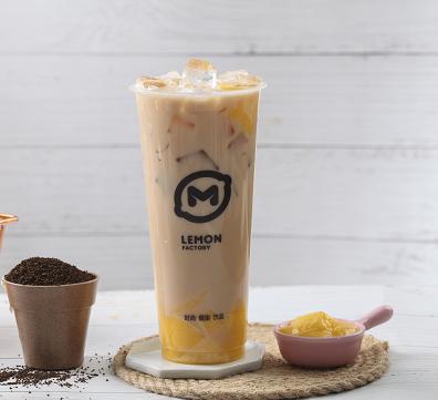 柠檬工坊奶茶饮品小吃店布丁奶茶