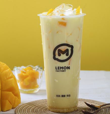 柠檬工坊奶茶饮品小吃店芒果果奶