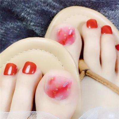 名仕初色美甲贴樱桃红
