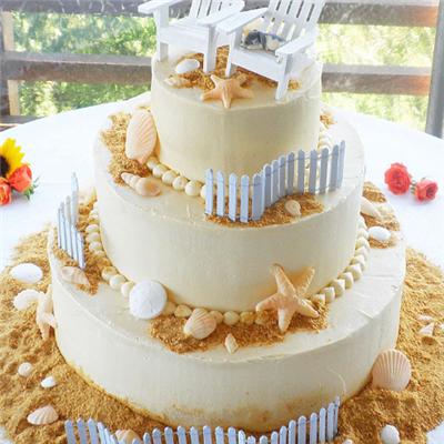 爱至型diy蛋糕展示