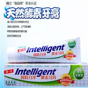 因特力净酵素牙膏天然