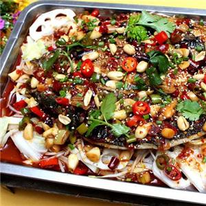 坐收鱼利烤鱼香菜
