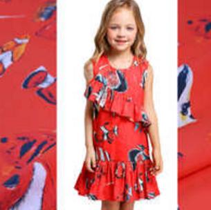 netaikyo熱帶魚服飾的純棉印花裙