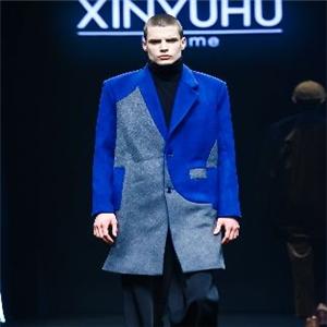 胡馨予男装蓝色