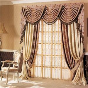 佳馨窗飾棕色窗簾
