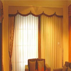 诚然窗饰棕色窗帘