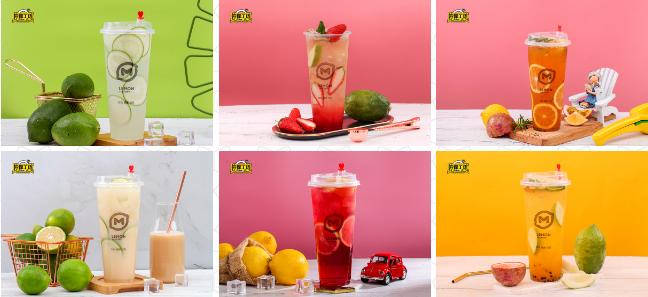 檸檬工坊飲品奶茶甜品店品種多樣