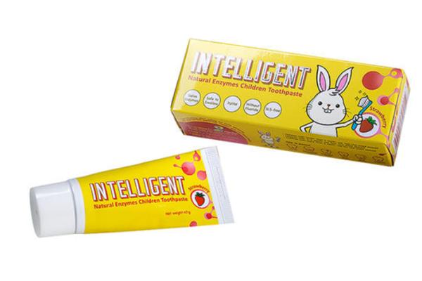 因特力净酵素牙膏黄色儿童牙膏