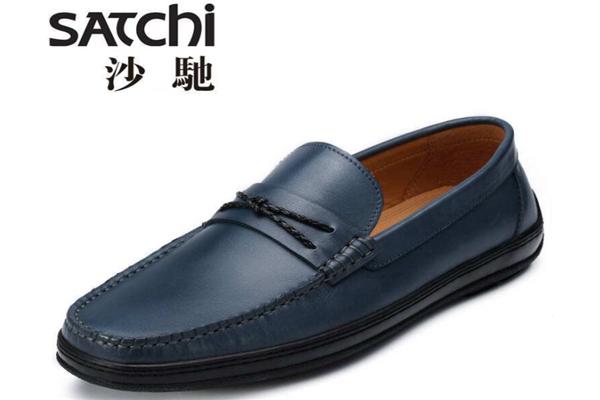 沙驰男鞋蓝色