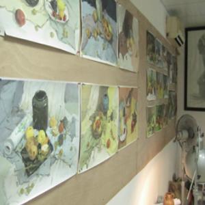张素伟画室绘画