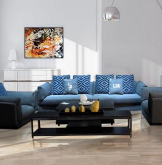 海森沙发软床蓝色海洋