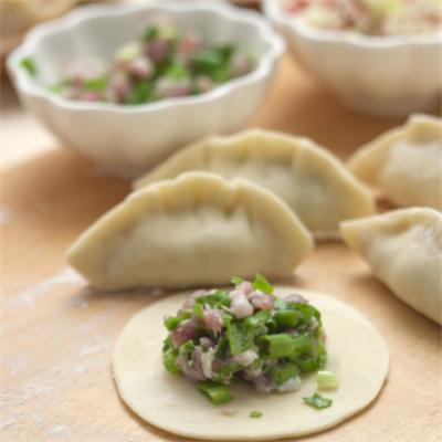 多福水饺韭菜猪肉馅