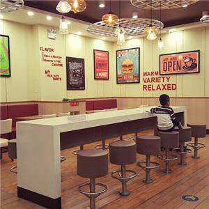 台美呷中式五谷汉堡环境