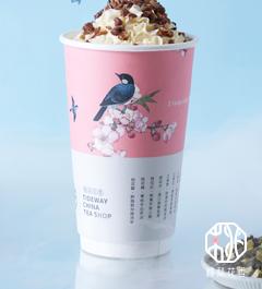 桃梨花香奶茶飲品甜品店產品6
