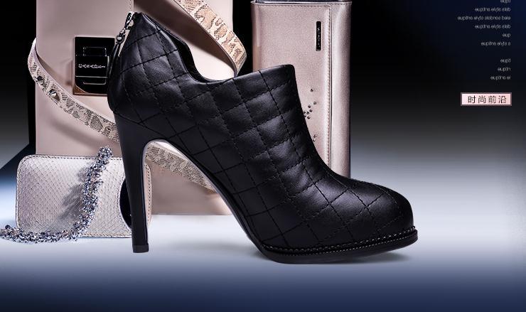 貝蒂佩琪女鞋黑羊皮