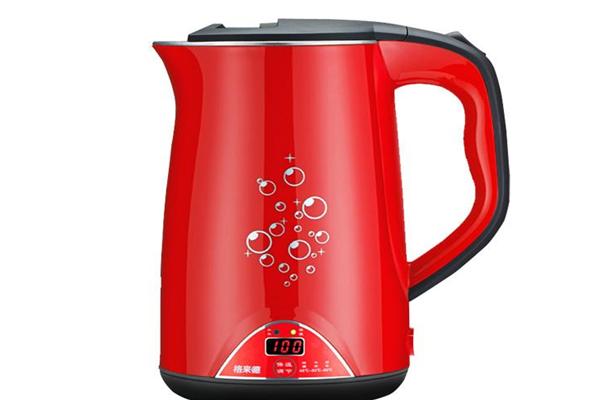格来德电热水壶红色