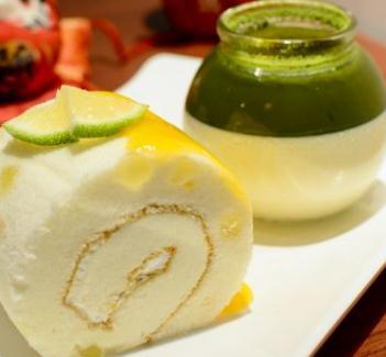 三北里日式抹茶甜品卷蛋糕