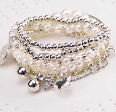 七巧銀飾珍珠鏈