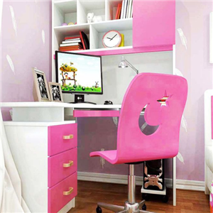 銘仁學習桌粉色桌椅