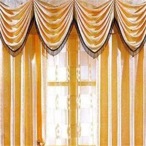 金蟬家紡窗簾黃色
