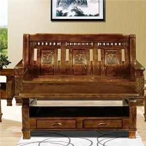 泰森黑胡桃实木家具椅子