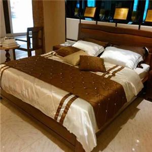 泰森黑胡桃实木家具床