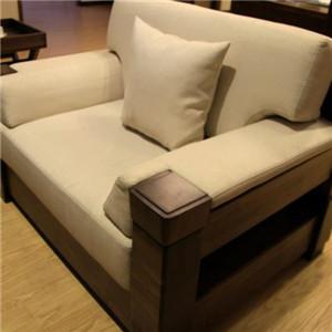 泰森黑胡桃实木家具沙发