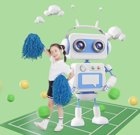 乐蒙乐贝教育机器人合影