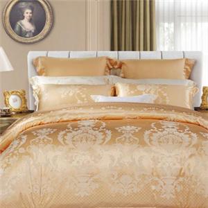 佳木斯床上用品金色印花四件套