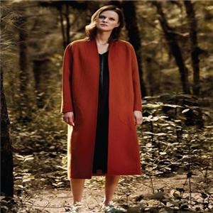 凝素新款红色大衣