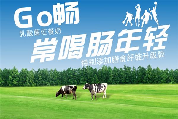 蒙牛Go畅乳酸菌饮品海报