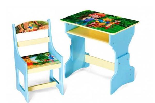 京華博士龍藍色學習桌